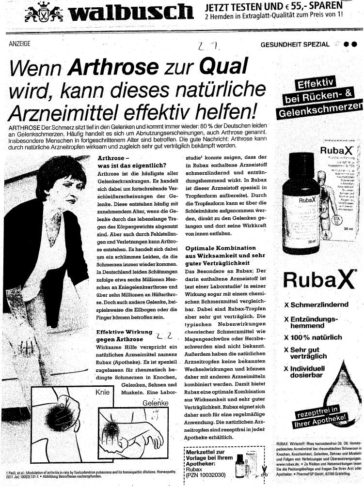 homöopathische mittel rubax